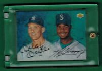 1994 UPPER DECK MICKEY MANTLE KEN GRIFFEY JR DUAL AUTO