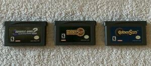 Nintendo Gameboy Advance Lot of 3 Games: Advance Wars, Golden Sun, Lost Age
