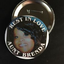 "CUSTOM your Photo *MEMORY*  PIN-BACK BUTTON- LARGE 3.5"" DIAMETER"
