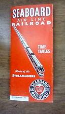 SEABOARD AIR LINE RAILROAD - FEBRUARY 1, 1951 - RAILROAD TIMETABLE - *CLOSEOUTS*
