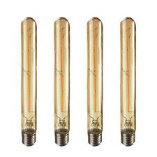 4 Long Tubular Filament Vintage LED Bulb E27 4W 2700K Warm White 400LM AC 220V