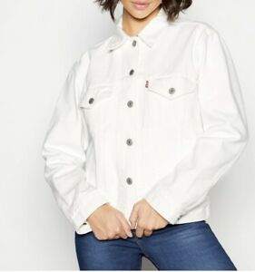 Levi's Women's Original Medium Trucker Jacket Soft white pre Christmas Delivery