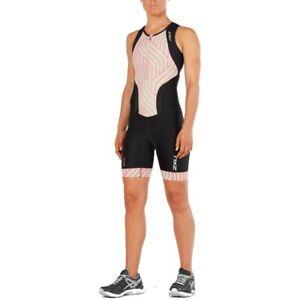 New 2XU Women Perform Front Zip Trisuit Race Train Tri Triathlon Suit Small Mint