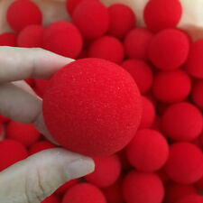8 pcs 4.5cm Close-Up Magic Soft Red Sponge Ball Classical Comedy Trick Prop