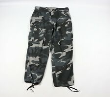 Mens Size Large Regular Military Combat Trousers Tie Cuffed Camouflage Pants USA
