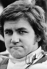Foto retrato firmado Dave Walker 12x8, F1 JPS Lotus 1972, Muy Raro
