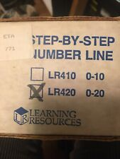 Step-By-Step Number Line Learning Resources Lr410-0-10 No Box Used Once Great