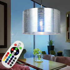 RGB LED Péndulo Luz Techo Regulable Salón Control Remoto Lámpara Plata