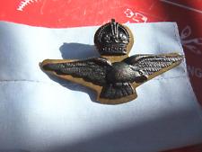 RAAF WW2 Royal Australian Air Force Officers Side Cap Badge - Eagle & Crown Amor