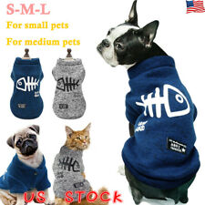 Pet Cat Clothes Sweater Chihuahua Teddy Small Dog Coat Jacket Flannel Soft Warm