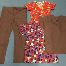 Used Lot Nursing Scrubs 2 Tops 2 Bottoms Pants Best & First Fashion Womens Xs