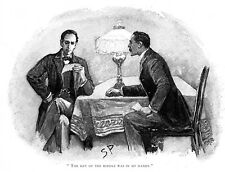 Sherlock Holmes in The Adventure of the Gloria Scott drawn by Sidney Paget