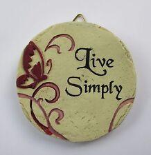New listing b Live Simply Mini Plaque fairy garden stepping stone Ganz Polystone
