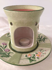 Yankee candle floral decorative tart candle warmer 2 piece