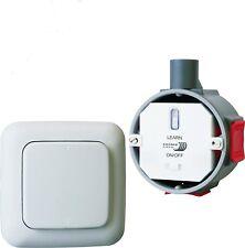 SH Funk-Einbauschalter + Funk-Wandtaster Funkschaltset Smarthome Fernbedienung