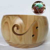 Organizer Yarn Bowl Wooden Storage For Knitting Crochet Yarn Storage Bowl Round