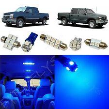 12x Blue LED interior package for 1999-2006 Chevy Silverado & GMC Sierra CS4B