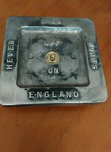 Vintage toggle Industrial Cast metal light switch BSEN approved