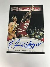 2012-13 Threads Signage AUTO Elvin Hayes On Card Blue Ink Rockets Hall Of Fame
