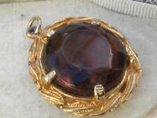 Glass Pendant/Locket Vintage Costume Jewellery