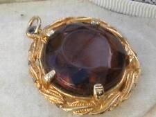 Glass Pendant/Locket Vintage Costume Jewellery (1980s)