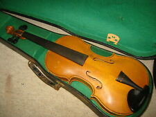 """Beautiful old 4/4 violin nice flamed 1part back """"copy of Jakobus Stainer Germany"""