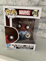 Marvel Deadpool Bob Ross Funko Pop! Vinyl Bobble Head Figure #319