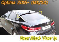 Black Rear Smoked Roof Spoiler Wing Visor Vent 1P K-998 for KIA Optima 2016~2019