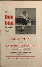 More details for all stars xi v gateshead select xi - johnny ingham testimonial - 1965/66