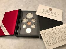 1990 CANADA 7-COIN PROOF SET W/ KELSEY COMMEMORATIVE SILVER DOLLAR, PRISTINE