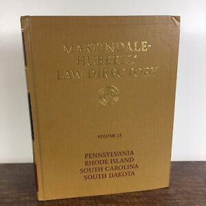 Martindale-Hubbell Law Directory Vol. 13, Pennsylvania, Rhode Island...(HC 1993)