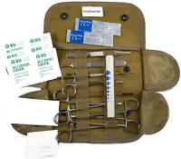 19 pc Coyote Brown First Aid Surgical Kit Military Molle Pouch Survival Medical