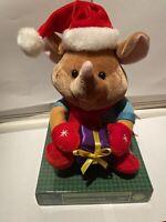 "RARE NIP GEMMY Animated Christmas Friend Mouse Singing Dancing ""Jingle Bells"""
