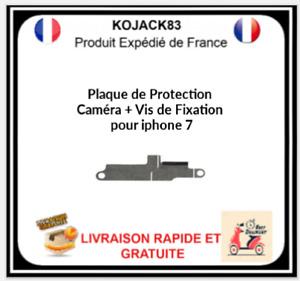 Plaque Fer Fixation Protection Nappe Caméra Appareil Photo Iphone 7 + Vis
