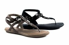 Buckle Flat (0 to 1/2 in.) Synthetic Casual Sandals & Flip Flops for Women