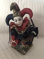 Vintage San Francisco Music Box Company 1994 Jester Clown - Somewhere Out There