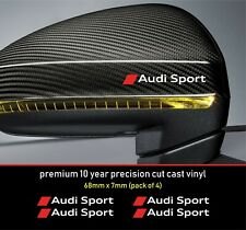 Audi Sport Premium 10 YearCast Vinyl Decals Stickers x 4 - many colours  alt