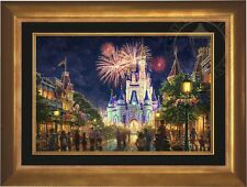 Thomas Kinkade Main Street 18 x 27 LE S/N Canvas (Aurora Frame) Disney World