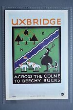 R&L Modern Postcard: 1922 Poster Uxbridge Across the Colne