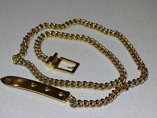 Ralph Lauren Metal Chain Belt Gold tone  Size S 38""
