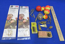 Vintage Sealey Snelled English Hooks Key Brand Hooks Weights & Red White Bobbers