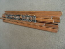 SET OF 13  VINTAGE OAK   STAIR RODS AND    BRACKETS