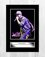 Mike Shinoda (1) Linkin Park A4 reproduction signed poster. Choice of frame