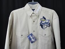 Wrangler NFR Las Vegas 2012  PRCA sand color Western Shirt  NWT men's size Small