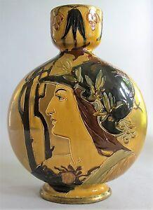 """Rare 14"""" English THOMAS FORESTER REMBRANDT Art Nouveau Dragon Vase  c. 1900"""