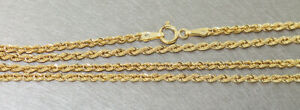 Chaîne Or 585 Collier en Cordon Walliskette 50 CM 14 Carat 2,6 MM Ø