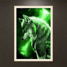 Night Wolf 5D Diamond DIY Embroidery Painting Rhinestone Cross Stitch Home Decor