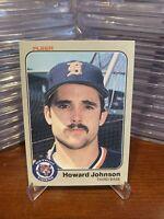 1983 Fleer Howard Johnson #332 - Rookie Card (RC) -Detroit Tigers