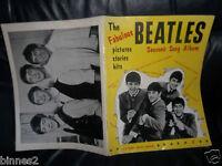 THE BEATLES 1963 FIRST SONG BOOK SHEET MUSIC LYRICS AND MUSICAL NOTES PHOTOS ETC