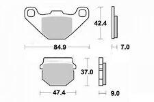 Jeu 2 plaquette de frein de qualité Avant KAWASAKI KDX 125 1990-2003